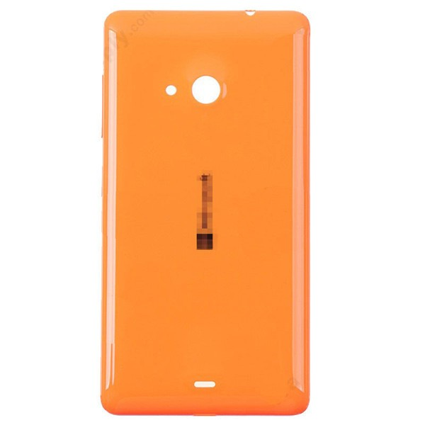 Microsoft Lumia 535 Battery Door - Orange - Original - Microsoft Logo