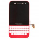 BlackBerry Q5 LCD Screen and Digitizer Assembly with Frame - Red - Full Original