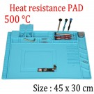 ESD Anti-Static Work Mat Heat Resistant Repair Mat with Sorting Trays 45 x 30 CM