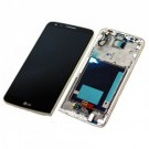 LG G2 VS980 LCD Screen and Digitizer Assembly with Front Housing - Gold - Full Original - With Verizon and LG Logo