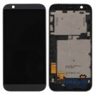 HTC Desire 510 LCD Screen and Digitizer Assembly with Front Housing - Black (Premium)