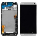 HTC One Dual Sim (M7 802w) Screen Assembly with Frame (Black) (Premium)