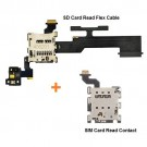 HTC One M8 SIM Card Read & SD Card with Volume Button Flex Cable Original