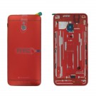 HTC One Mini Rear Housing (Red) - With HTC and beatsaudio Logo - Without Words Original