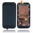 HTC One SV LCD Screen and Digitizer Assembly with Frame - Black - Full Original