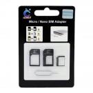 iPhone 5 Micro / Nano SIM Adapter Black