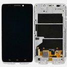 Motorola Droid Ultra XT1080 Black LCD Screen and Digitizer Assembly White Frame - Full Original - Without Any Logo