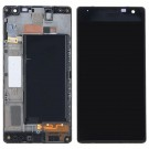 Nokia Lumia 735 Screen Assembly with Frame (Black) (Premium)
