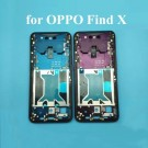 OPPO Find X Front Housing LCD Frame Bezel Plate (Blue/Red) (OEM)