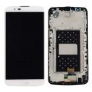 """LG K10 K410 K420 K430 5.3"""" Screen Assembly with Frame (White) (Premium)"""