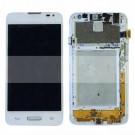 LG L65 D280 D280n LG L65 Dual SIM D285 LCD Screen and Digitizer Assembly with Frame - Black/white - Full Original