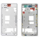 Sony Xperia Z1 Compact Front Housing( Aluminum)+ Middle Frame-Full Set - White Original