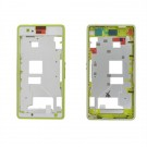 Sony Xperia Z1 Compact Front Housing( Aluminum)+ Middle Frame-Full Set - Yellow Original