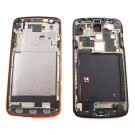 Samsung Galaxy S4 Active GT-I9295 Front Housing - Red Orange - Original