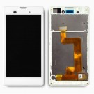Sony Xperia T3 LCD Screen and Digitizer Assembly with Frame White - Full Original - With Sony Logo Only
