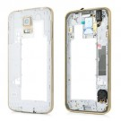 Samsung Galaxy S5 Rear Housing With Ear Speaker Mesh Cover - Gold Original