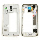 Samsung Galaxy S5 Rear Housing With Ear Speaker Mesh Cover - Silver Original