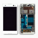Sony Xperia C3 Screen Assembly with Frame (White) (Premium)