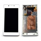 Xperia M2 / M2 Aqua LCD Screen and Digitizer Assembly with Frame - White - Full Original