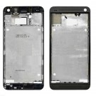 HTC One M7 Front Housing without Top&Bottom Cover White/Gold/Black Original