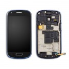 Samsung Galaxy S3 Mini i8190 Screen Assembly with Frame (Blue) (Premium)