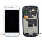 Samsung Galaxy S3 Mini i8190 Screen Assembly with Frame (White) (Premium)