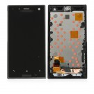 Sony Xperia Acro S LT26W LCD Display Touch Screen Digitizer Assembly with Frame Black - Full Original