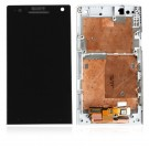 Sony Xperia S Arc HD LT26i LCD Display Touch Screen Digitizer Assembly with Frame White - Full Original