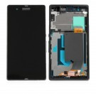 Sony Xperia ZL L35h C6502 Screen Assembly with Frame (Black) (Premium)
